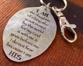 I Am the daughter of a King Keychain, Because I am His Inspirational Gift, Religious Keychain Scripture Gift Kyleemae Designs Spoon Keychain