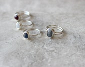 RESERVED For Bailey - Blue Sapphire Ring, Size 7.5 US