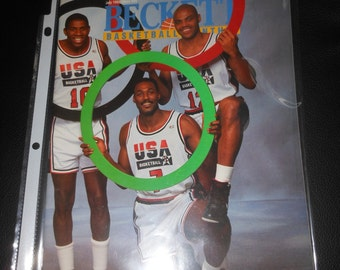 1992 Beckett Basketball price guide magazine  US Summer Olympics Dream Team - poster