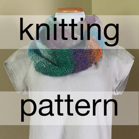 Herringbone Infinity Scarf Knitting Pattern : Chunky Herringbone Infinity Knit Pattern Chunky Infinity