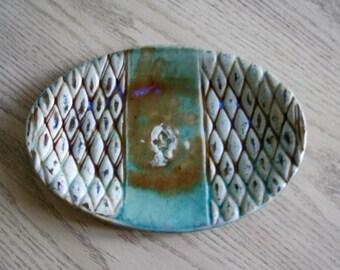 High Fire Stoneware Fleur de lis Platter