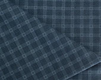 Blue Plaid Cotton Fabric 1 Yard / Cranston Print Works