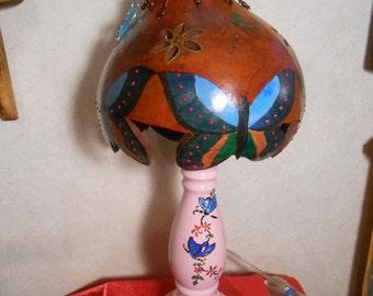 gourd butterflies lamp
