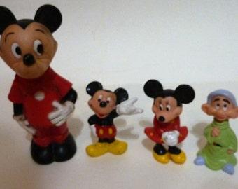 vintage set of 4  Disney  characters