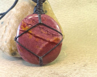 Mookaite Pendant - Golden Shades of Autumn - Decisions/Versatility/Change - Reiki Infused Energy Jewelry