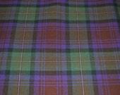 Isle of Skye Modern tartan fabric. Poly viscose. Machine Washable. Price per half metre.