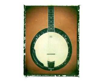 Banjo art print / music gift / rock n roll art / music room decor / guitar gift / man cave art