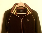 Le Tigre Classic 70s Track Jacket Womens Small Brown and Orange Stripes