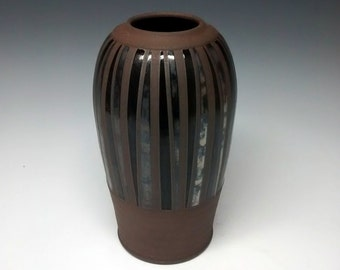 Ceramic Pottery Vase - Mid Century Modern Design - Handmade Stoneware Urn
