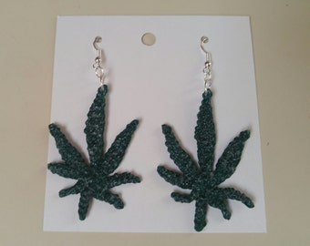 Hand-crafted Cannabis Earrings