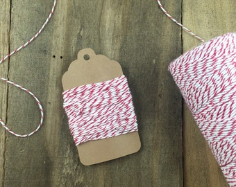 10 yards Red and White Stripe Divine Twine Baker's Twine