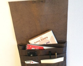 Portfolio Bag/Many Pockets Leather Portfolio Case/Laptop Bags Cases/Computer Accessories