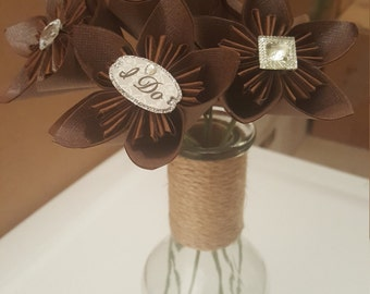 MOVING SALE: Chocolate Shimmer and Jewels Bouquet of 7 stemmed flowers