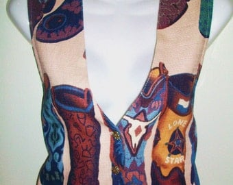 Giddy up Wrapper western size small button up vest