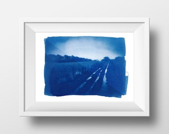 New Year's Day - Cyanotype art print