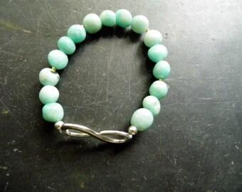 Bracelet, Amazonite, infinity, green, jewelry, women, protection