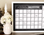 Dry Erase Calendar Chalkboard Printable