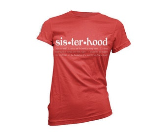 Sisterhood Definition T-shirt (red)