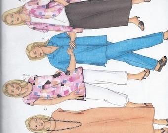 ON SALE Women's Shirt, Top, Tunic, Dress, Skirt & Pants-Butterick 3039, size 16w, 18w, 20w UNCUT