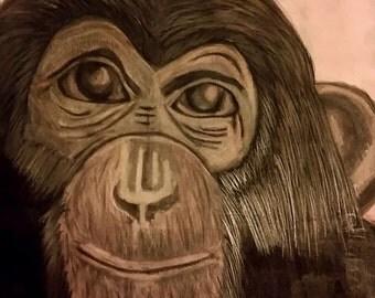 Print Monkey drawing