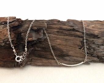 Silver, Bar, Necklace
