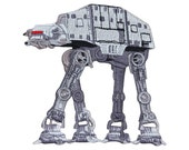 Star Wars AT-AT Imperial Walker Patch Empire Strikes Back Hoth Iron-On Applique
