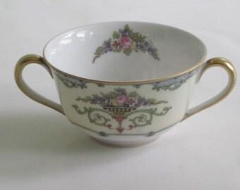 Vintage Noritake Favorita Cream Soup Bowl 2 Handled Cup