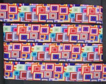"10Yd Colorful Tetris 7/8"" Grosgrain Ribbon"