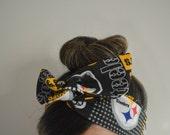 Pittsburgh Steelers, headband, Dolly bow head bands, head band, hair bow