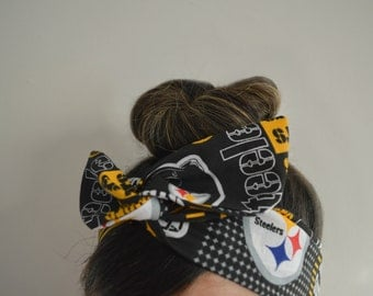Pittsburgh Steelers, headband, Dolly bow head bands, head band, hair bow