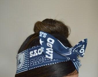 Dallas Cowboys, headband, Dolly bow head bands, head band, hair bow