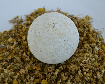 Chamomile Patchouli Bath Bomb, All Natural Bath Bomb, Bath and Body, Relaxation Gift, Spa Gift, Gift for Her, Bath Fizz, Aromatherapy bath