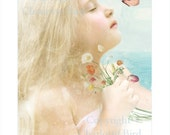 Mondays Child - Fairy Print Mounted or unmounted or two sizes of plaques to choose from-All  signed  By Charlotte Bird