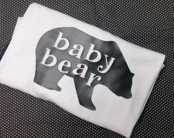 Baby Bear Shirt, Bodysuit, Bib or Burp Cloth