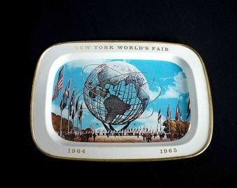 New York World's Fair Tray 1964 1965