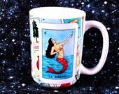 El Mundo El Nopal La Serena Loteria Mexican Bingo 15oz mug