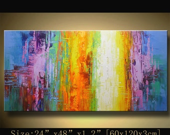 Abstract Painting, Large Wall Art Canvas, Oil Painting Landscape, Contemporary Painting, Wall Decor, Canvas Painting, Original Abstract Art