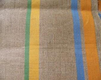 Pair Vintage Unused Linen Tea Towels Stripes