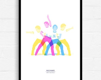Minimalist Movie Poster, Cult Movie Print, Dance Poster, Pop Culture Print, Graphic Art, Graphic Design Poster, Geeky Home Decor, A3 Poster