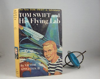 Mid Century Harcover Book Tom Swift and His Flying Lab 1950s