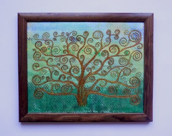 fibre art  textile pictures wall hanging fabric painting  embroidery