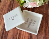 Unique Mother of the Groom Gift - Square Keepsake Box - Gift Boxed
