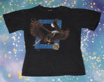 Native American Eagle T-Shirt Size L