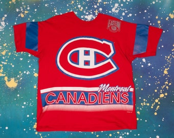 Montreal CANADIENS Hockey T-Shirt Size XL