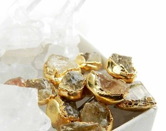 topaz earrings, topaz studs, topaz stud earrings, raw topaz, imperial topaz, raw gemstone jewelry, gold studs, gold earrings, champagne