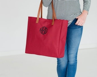 Monogrammed Tote Bag, Personalized Tote Bags, Monogrammed Gifts, Bridesmaid Gifts, Group Discounts, Tailgate Tote Bag