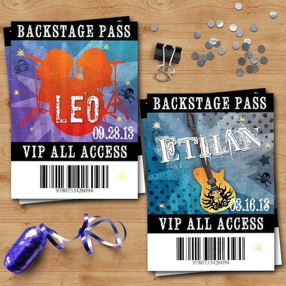 Rockstar Birthday Vip Backstage Passes Party Like A