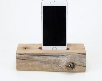 Docking Station for iPhone, iPhone dock, iPhone Charger, iPhone Charging Station, iPhone driftwood dock, wood iPhone dock/ Live Edge-No. 785