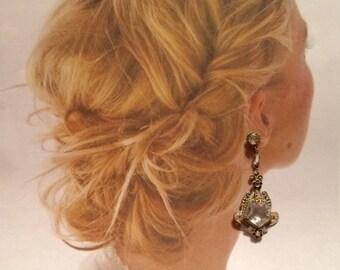 Art Deco Earrings Vintage 1920's Bridal Wedding Gatsby Fantasy