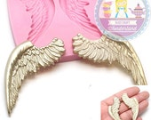 Big Angel Wings Mold Flexible Silicone Mold Cake Topping Cookie decorating Scrapbooking Mould Food Safe 414L* BEST QUALITY